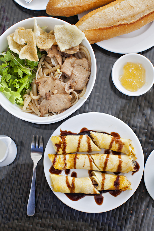 cau lau and crepe breakfast in hoi an, vietnam. san diego commercial photography, san diego commercial photographer, southern California commercial photographer, California commercial photographer