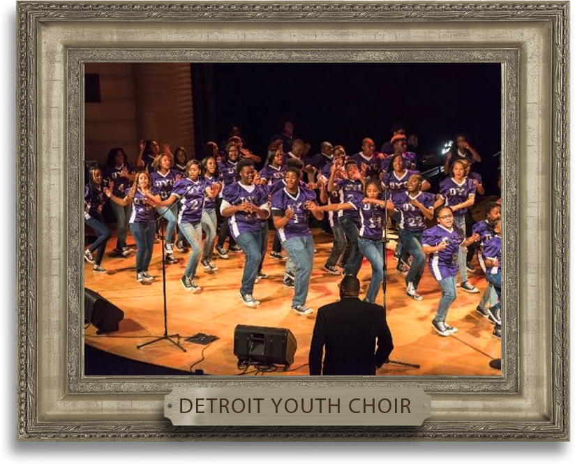 Detroit Youth Choir - This Performing Arts Company was founded September 1996 under the very fine conductorship of Mr. Fleming Ivory and later taken over in September 2001 by Mr. Anthony White, the youth are still singing together in harmony. Members of the group have been performing and staging concerts around the city and the world. The 30+ member 501 (c) 3 non-profit organization is devoted to developing the creative skills of some of Detroit's finest youth. DYC is also a recent nominated performing arts group here in the City of Detroit.