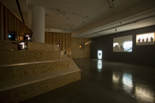Install View:João Maria Gusmão and Pedro Paiva, One month without filming,  REDCAT Gallery, 2015