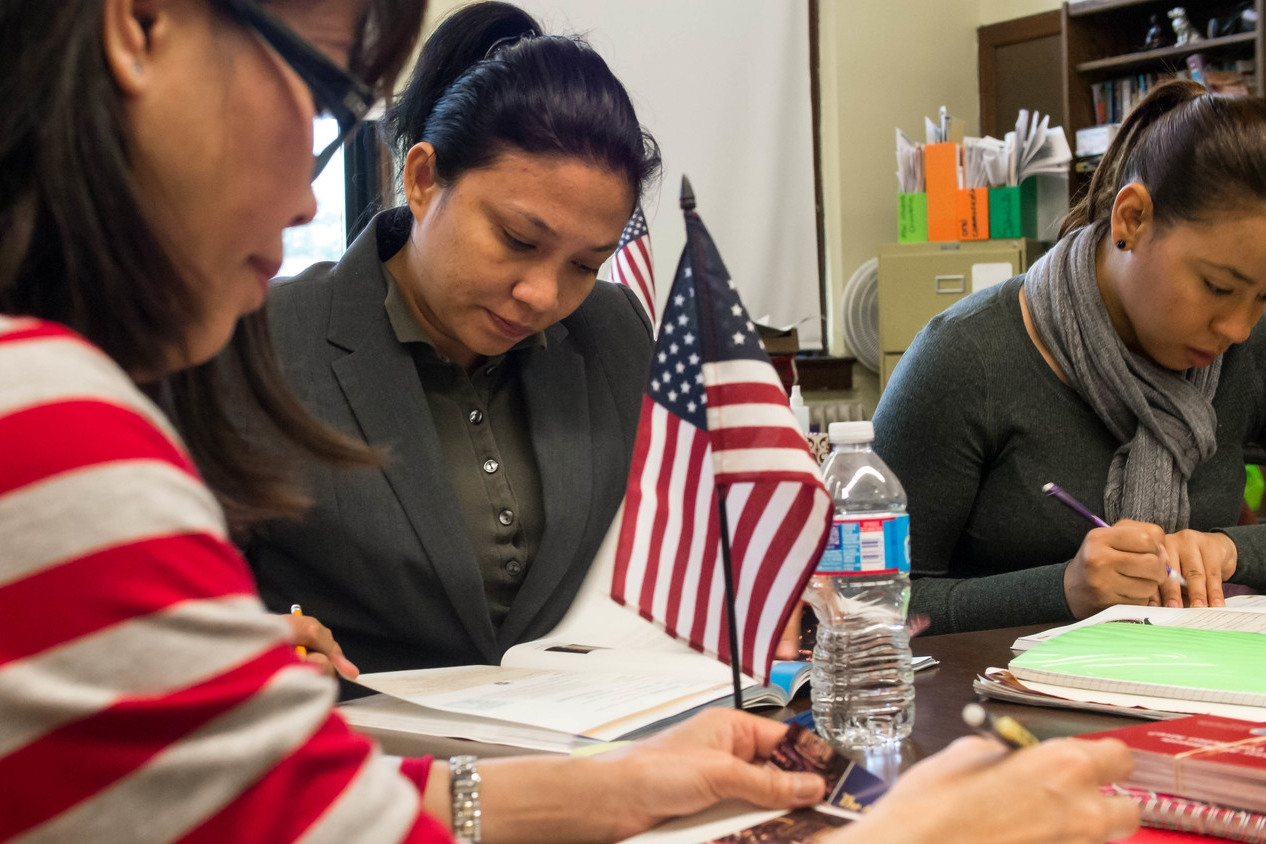 Our Citizenship classes prepare adults to pass the US naturalization test.