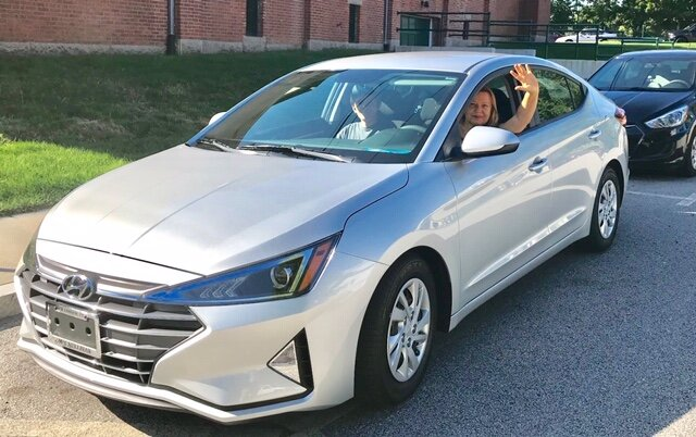 Ekaterina in her new Elantra!