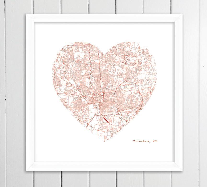 Columbus heart framed.jpg