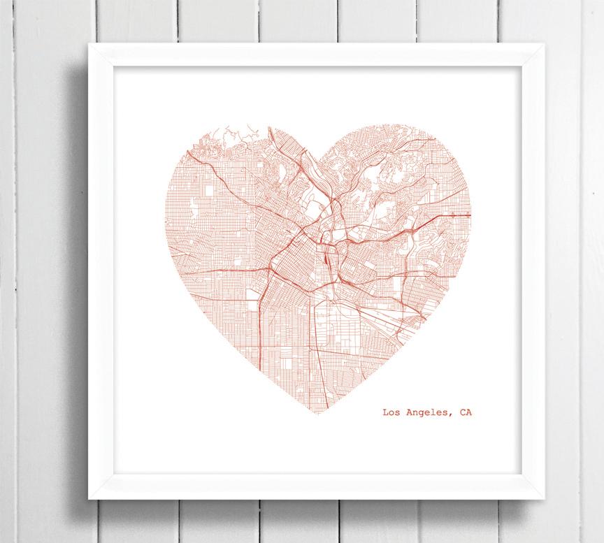 LA downtown heart framed.jpg