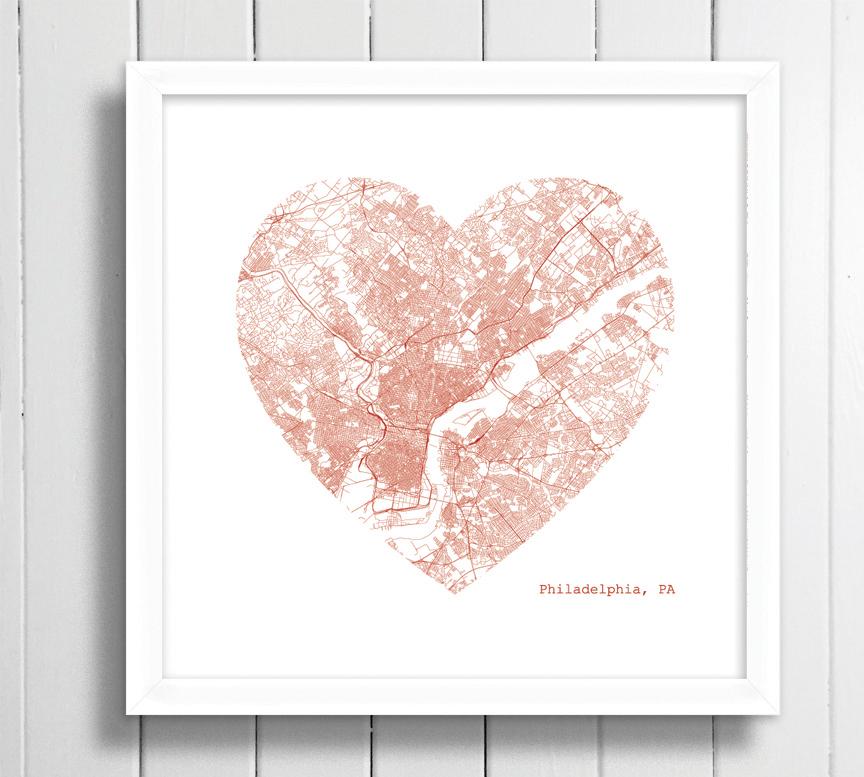 Philadelphia heart framed.jpg