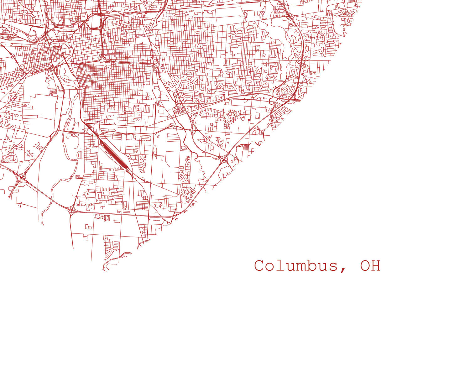 Columbus Ohio City Map - Art Print — TIM + APRIL on printable map nc, aerial view of columbus, printable map ky, printable map wv, printable map texas, google map of columbus, topographical map of columbus, printable map kansas, printable honolulu map, printable map nj, printable map georgia, printable dallas map, printable new orleans map, castle of columbus, printable map ohio,