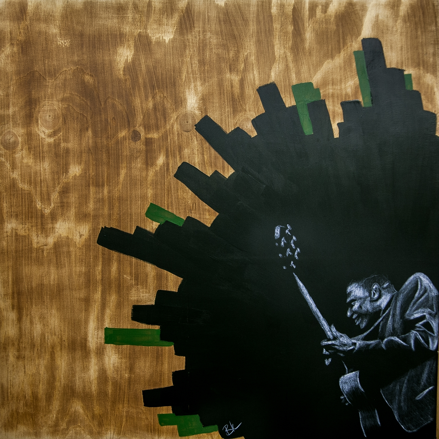 """24""""x24""""- Commissioned for the venue Saint Rocke"""