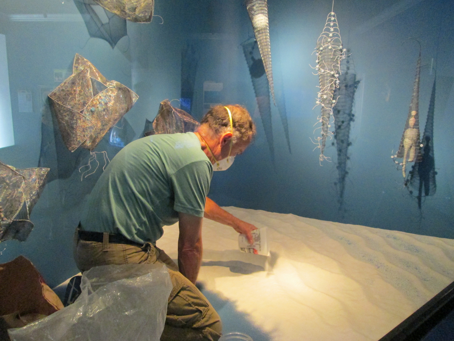 "Here I am at the Tennessee Aquarium in Chattanooga, TN doing an installation in a display case that is part of a jellyfish exhibition. ""Jellies: Living Art"" will be on display through 2016."