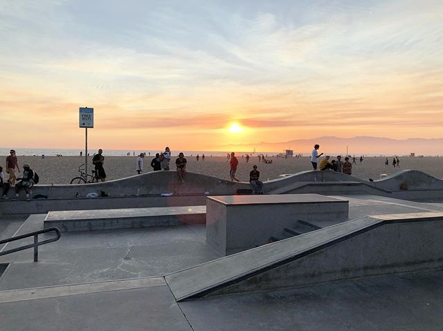 Finished the day off with a photo shoot at the #veniceskatepark and this view in the background. . #venicebeach #skate #skater #skating #skatepark #skateboarder #skateboarding #california #2018 #exit #choose2exit #where2exit