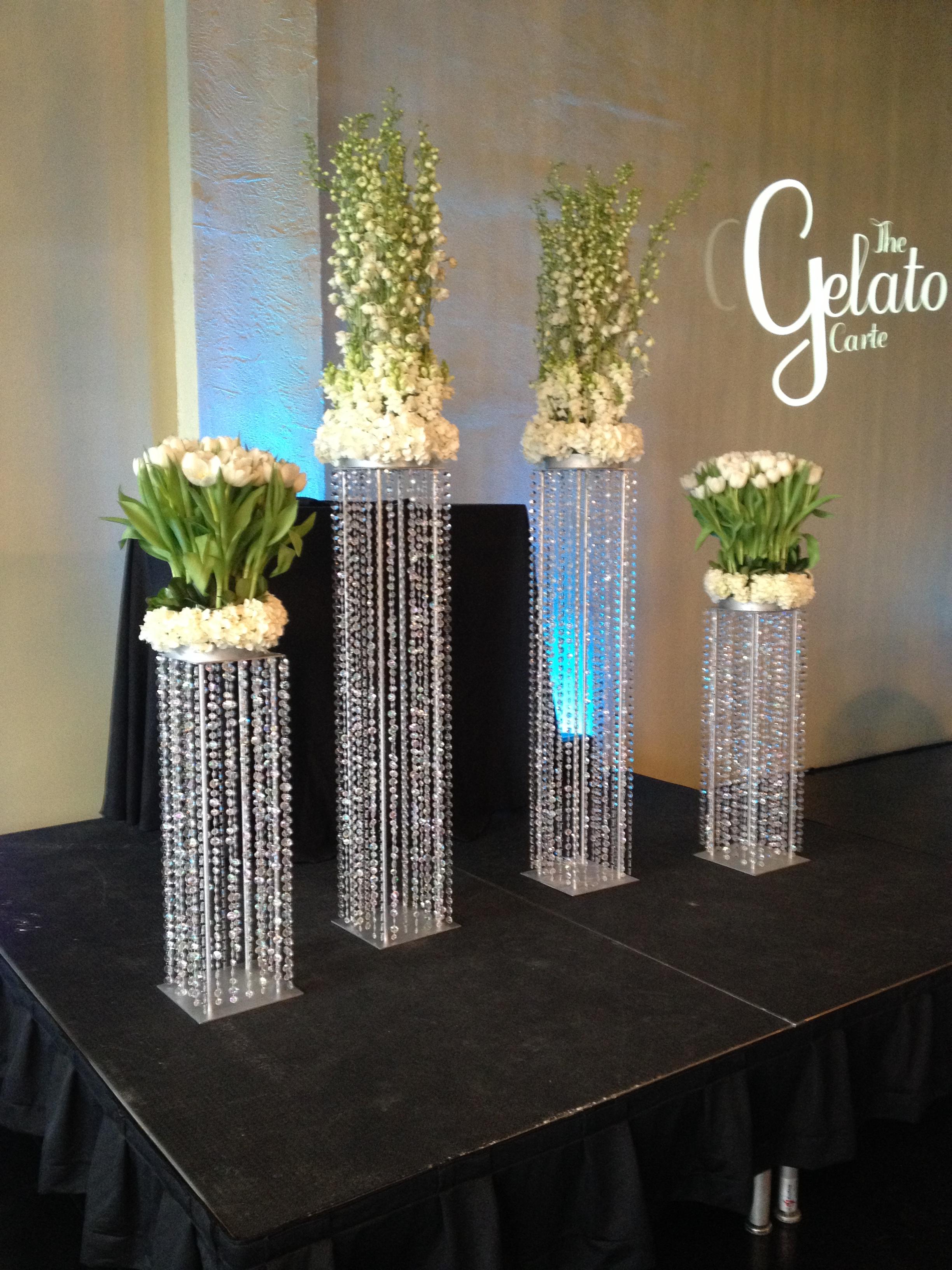 White ceremony flowers wedding
