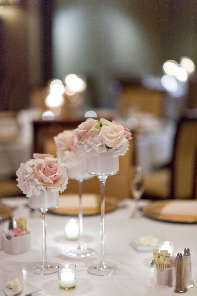 Tampa Club blush and cream wedding flowers