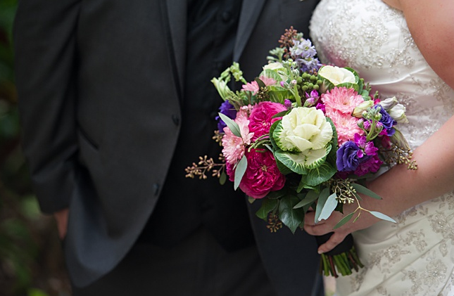 Organic wedding bouquet