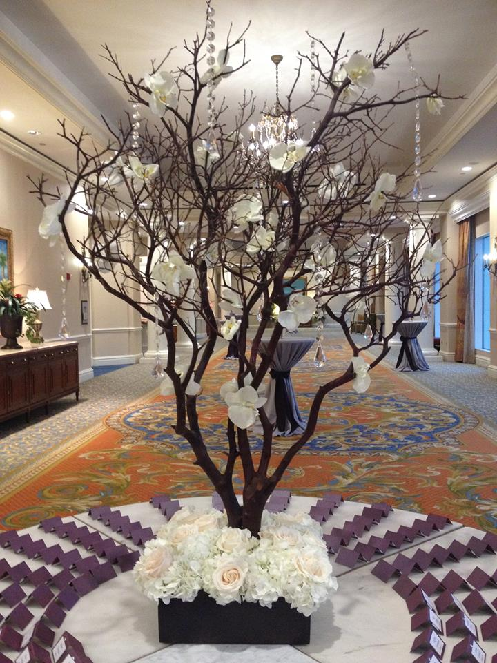 Escort Card Table Place Card Table Manzanita Branches
