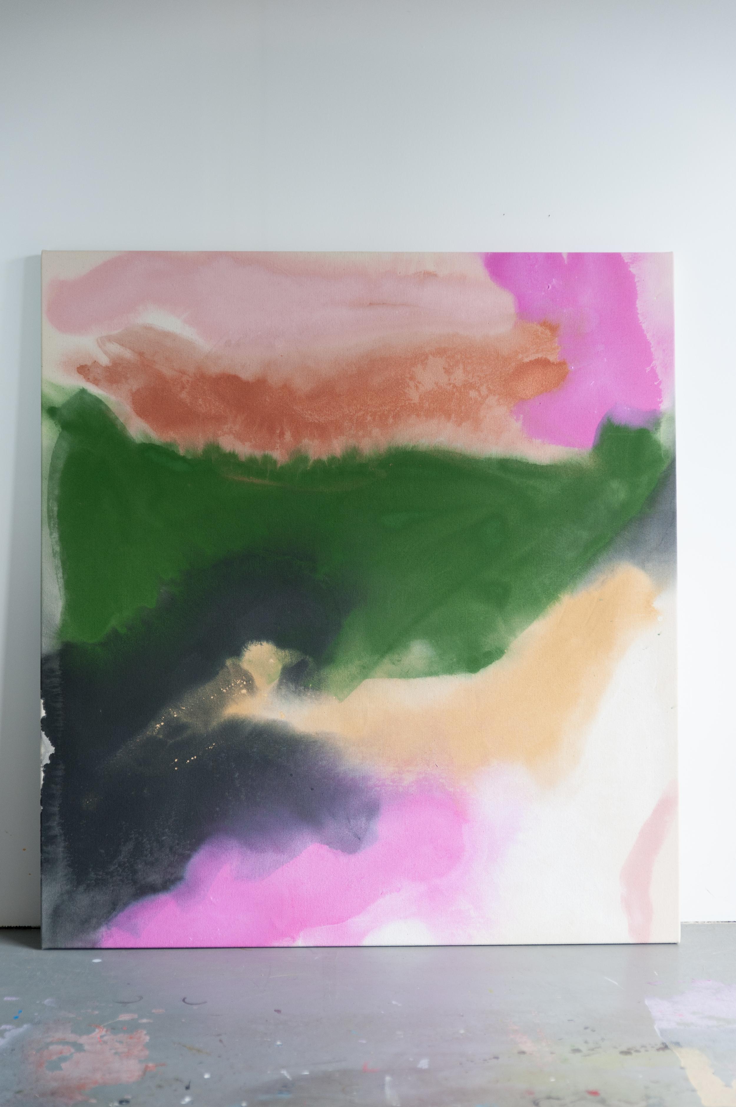 acrylic on raw canvas 44 x 48 inches