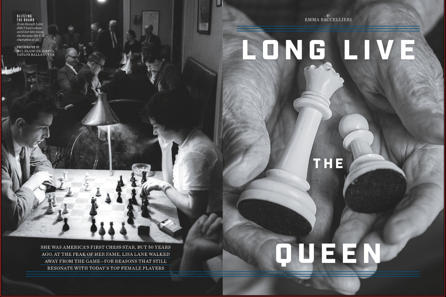 LONG LIVE THE QUEEN - On 1960s pioneering chess star Lisa Lane and women's chess today.(Jan. 14th, 2019 issue; online.)