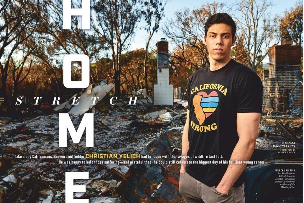 HOME STRETCH - On Christian Yelich's MVP offseason, forged by wildfire(Jan. 28th, 2019 issue; online.)