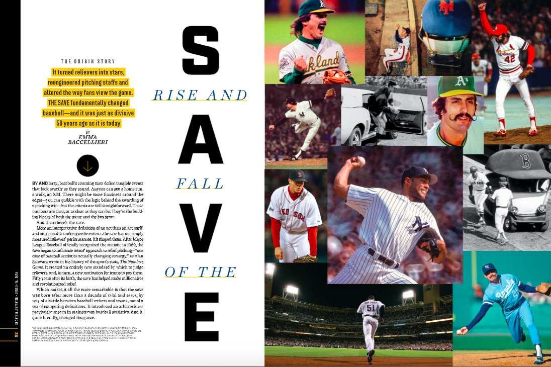 RISE AND FALL OF THE SAVE - On the origin story of the save, and why it matters.(June 3rd, 2019 issue; online.)