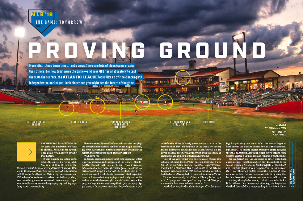 PROVING GROUND - On what it's like to play in MLB's experiments in the Atlantic League.(July 29th, 2019 issue; online.)