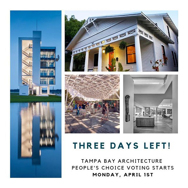 This year for TBDW' 19 ⭐️ we will be hosting the Tampa Bay Architecture People's Choice Contest! 🏢  Our 11 award winners from the @aia_tampa Honor and Design Awards will be put to a public vote to select Tampa Bay's favorite! Voting opens on Monday, April 1st so stay tuned 👀  What is YOUR favorite building in Tampa Bay? Like this post and leave a comment below and one winner will receive a TBFAD Rivergate Tower t-shirt!  #tampa #tampabay #tampaarchitecture #architecture #AIA #floridaarchitecture #Florida #visittampabay #downtown #exploretampa #tampaarts #tampabaydesignweek