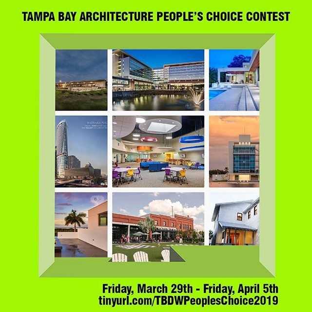 🗯 Voting closes T O M O R R O W for the Tampa Bay Architecture People's Choice Contest! 🏢✔️ Place your vote now by clicking the link in bio. The winner will be announced this Saturday, April 6th at The White Party. Get your vote on!  All contestants are winners from the 2018 Honor and Design Awards @placearchitecture @fladarchitects @solsticearchitects @genslertampa @hoffman_arch @asdskydesign @wjarchitects @fawleybryant  #tampa #tampabay #tampaarts#tampatheatre #tampatheater#tampabayarts #tampaart #tours#tampatours #cityoftampa#hillsborougharts #813 #tbdw#designweek #visittampabay#downtowntampa #hiddentampa#achitecture #tamparchitecture#florida #tampadesign #exploretampa#architectureanddesign #design