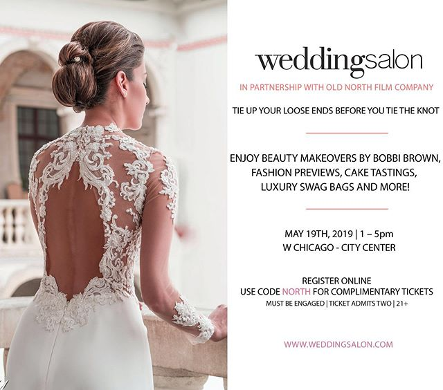 Hello Bride-to-Be's! We're partnering with @theweddingsalon next week to show you the best Chicago vendor options for your big day! You WON'T want to miss this fabulous and extravagant expo! Get complimentary tickets with our promo code: NORTH. Come chat with us on May 19th! We can't wait to meet you!💍💕