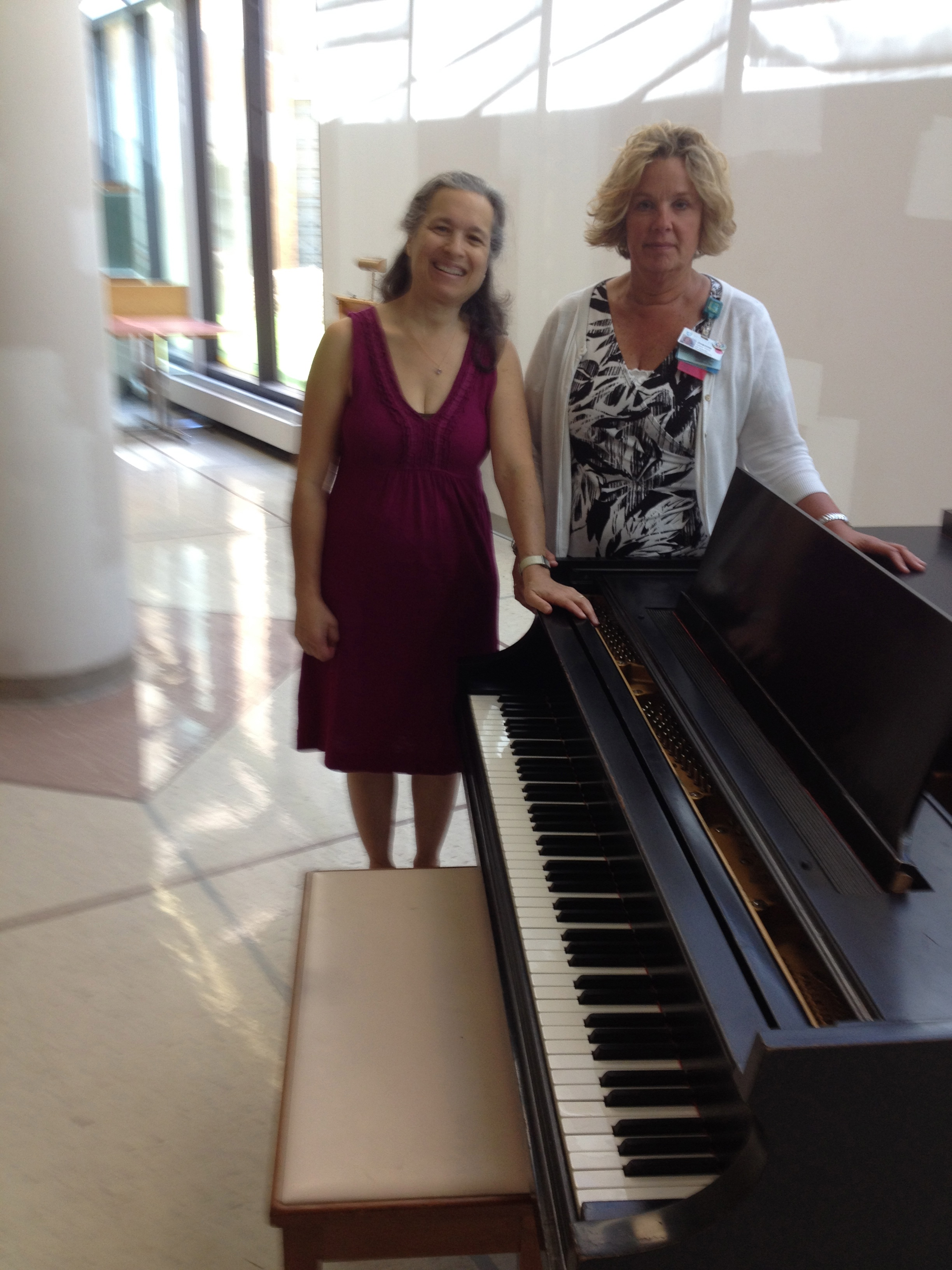 piano arrival at Spaulding Hospital Cambridge