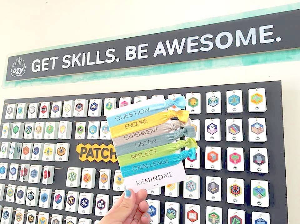 Patches, reMINDmebands,symbols and prizes to share our skills and values!