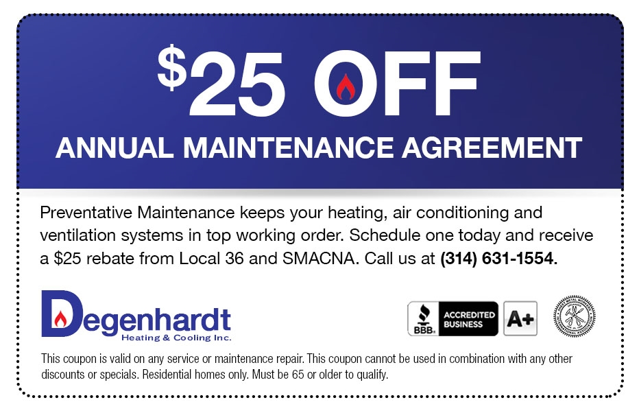 $25 off Annual Heating and Cooling