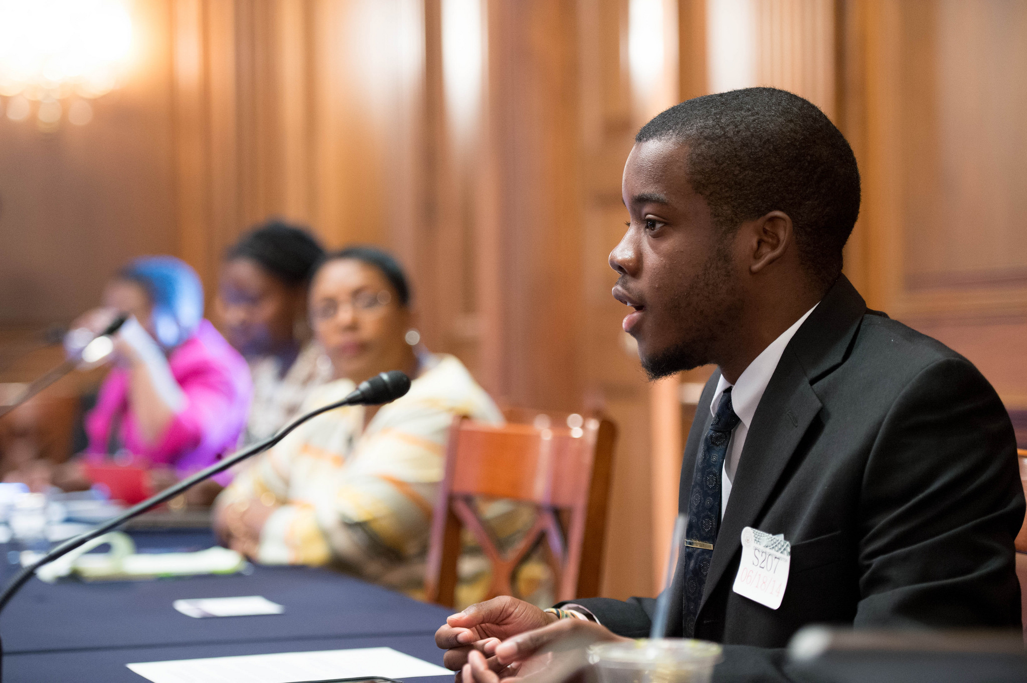I spoke during a Senate panel on African Americans in the media that I was invited to in 2014.