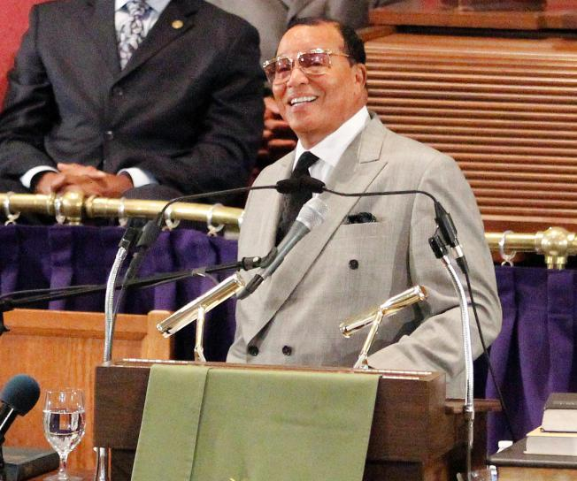 Louis Farrakhan speaks at the Metropolitan AME Church in Washington to announce plans for the Millions for Justice march to be held in Washington on Oct. 10, during a news conference Wednesday, June 24, 2015. (AP/  Washington Post  )