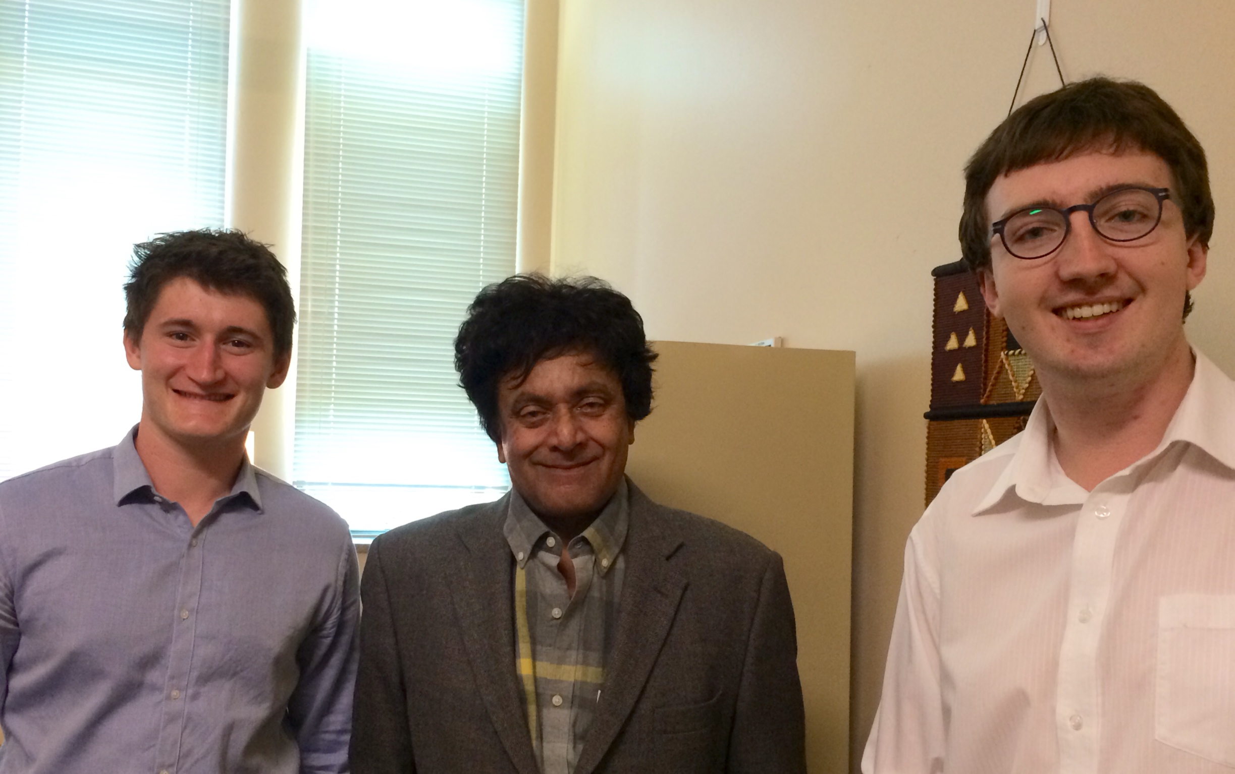 Professor Ratnapala, pictured with the interviewers