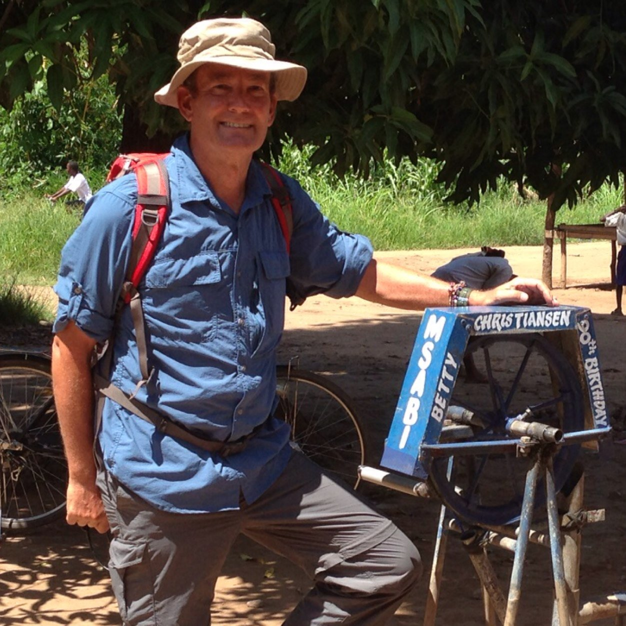 Keith working with MSABI (Maji Safi kwa Afya Bora Ifakara - Safe water for Better Health!) in Tanzania