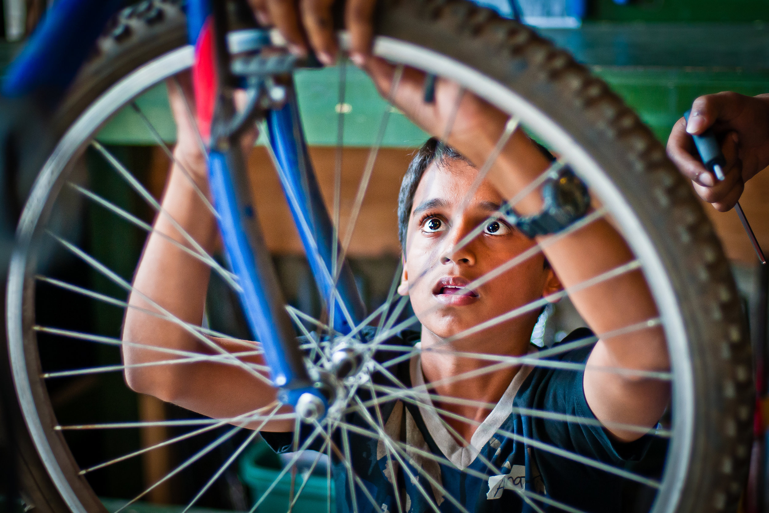 Participants in our Great Bike Recycle program may also receive training in bike maintenance.
