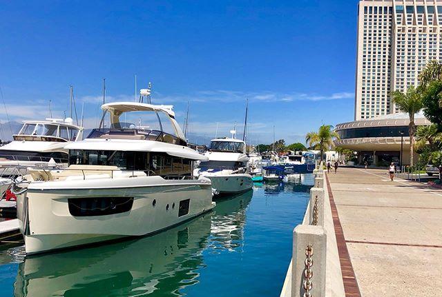 Absolute 52' Navetta docked at #marriottmarina #summer #italian  #sdyachtgroup #yacht #charter #partnership