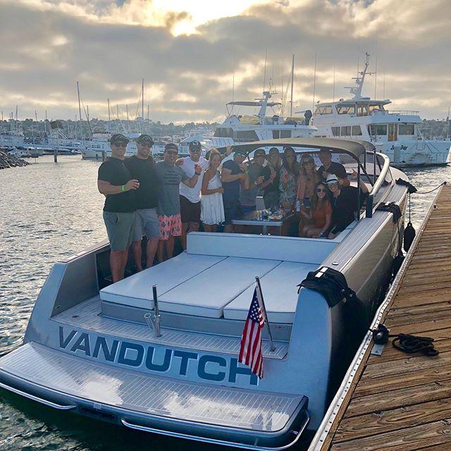 Summer nights aboard a #vandutch with good friends #sdyachtgroup #boating #summer #weekend #friends
