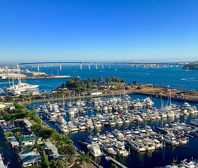 Weekend at the San Diego Marriott Marquis, aboard our #vandutch downtown #yacht