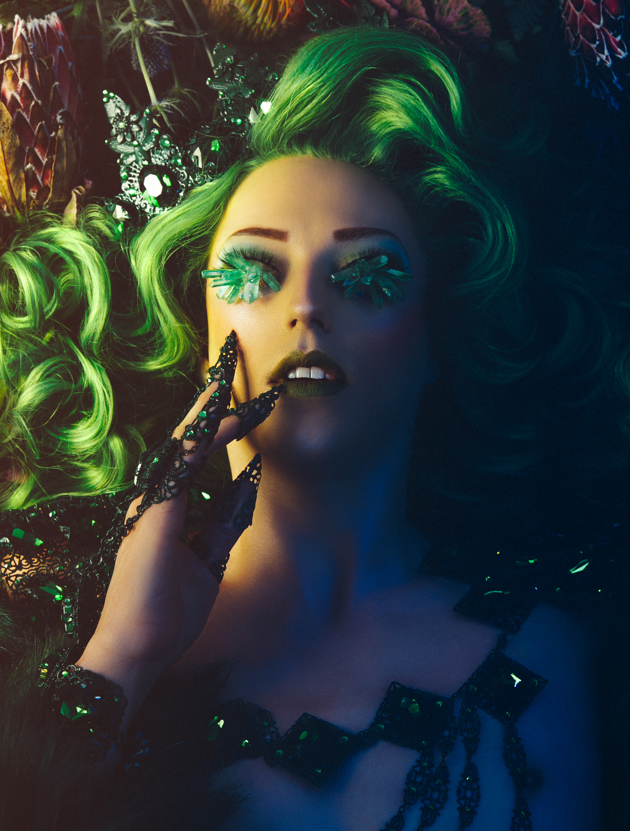 Model: Laganja Estranja  Makeup: Sasha Glasser  Photographer: Alena Mealy  Art Director: Danica Kennedy  Accessories: Marianna Harutunian  Wig: Jason Adcock⠀  Fur: Matt Sarafa