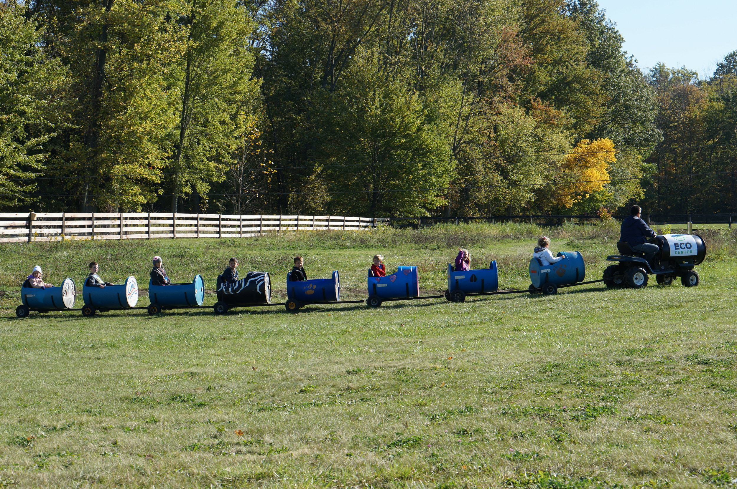 ECO Center Fall Festival Barrel Train Ride