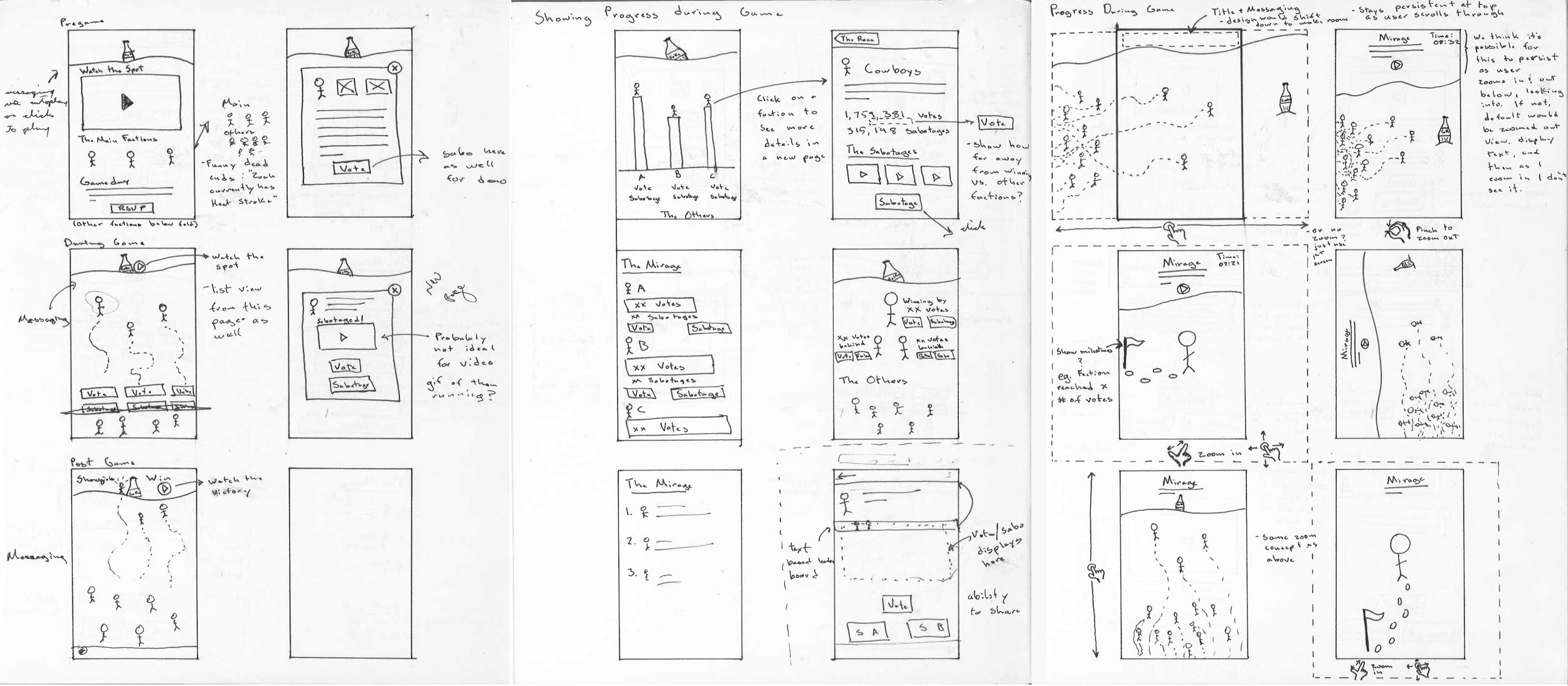 A sampling of some exploratory mobile  UI  sketches.