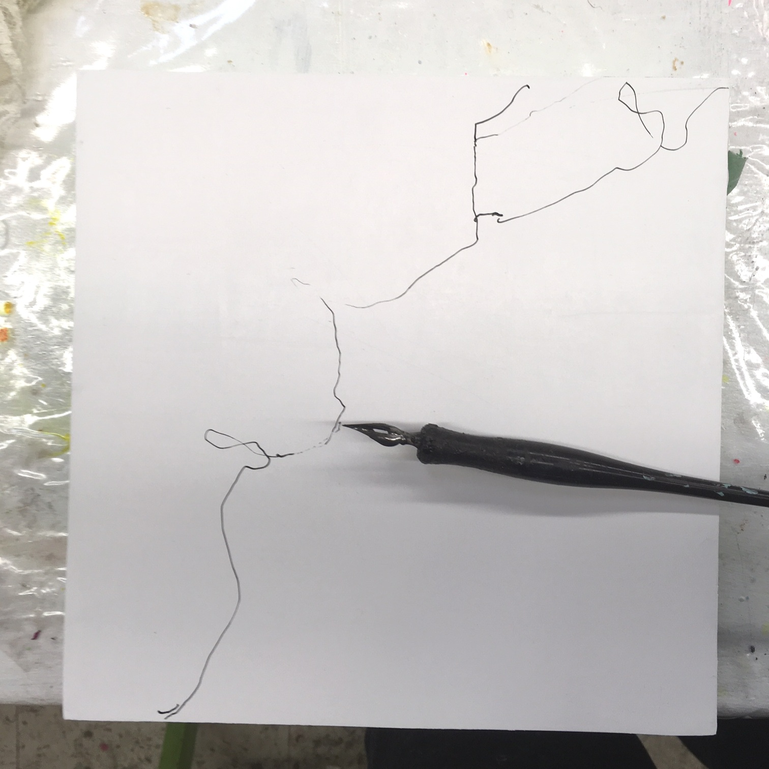My rough outline looks more like an electrocuted worm.