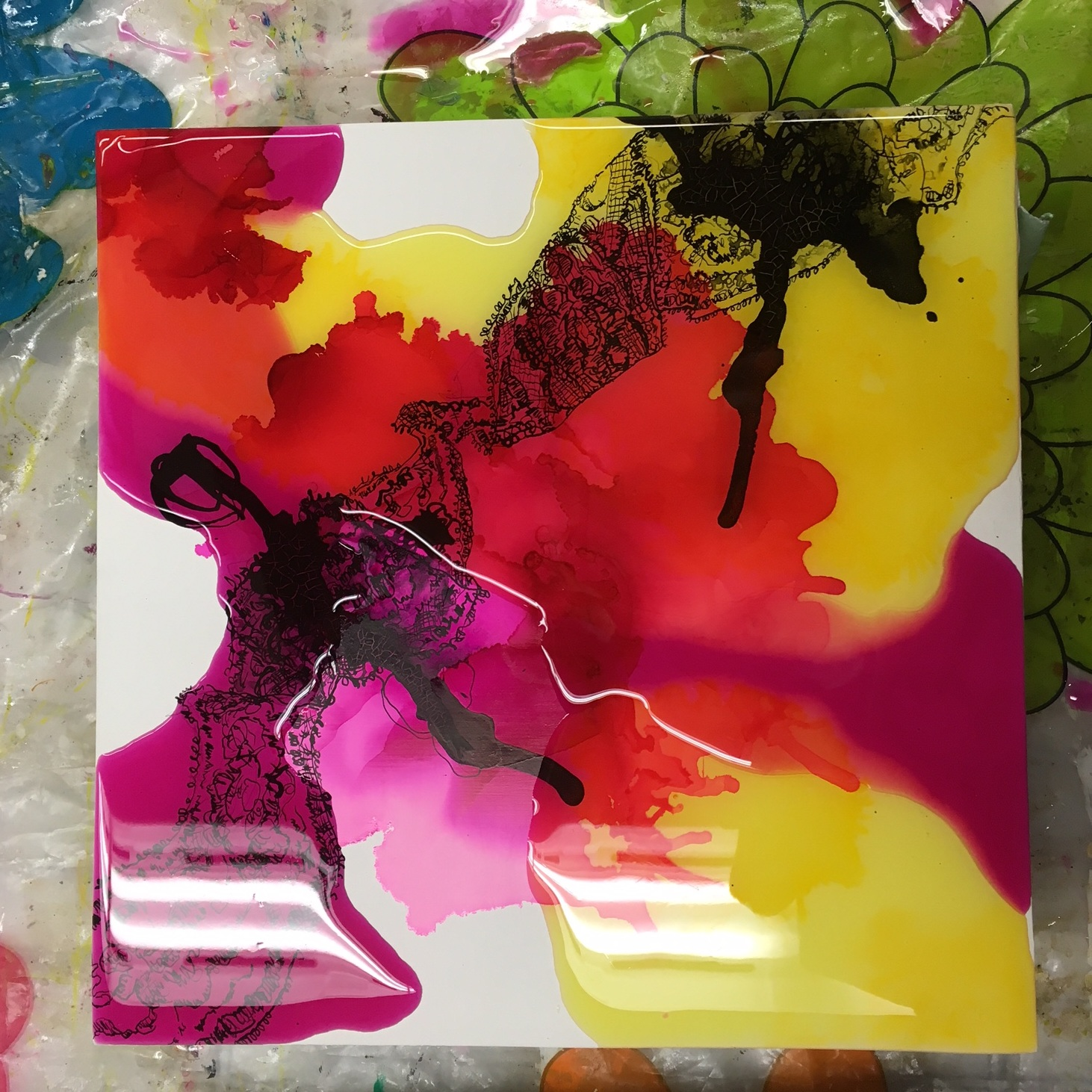 Juicy, candy layers! Working with resin always makes me hungry.
