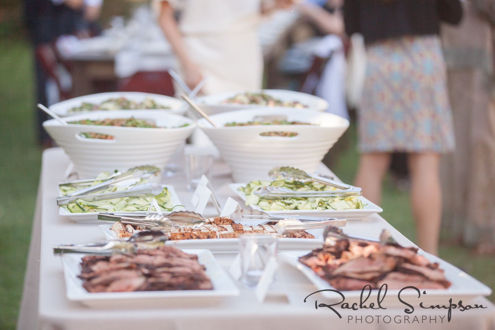 The buffet - all food was made or prepared by the bride.