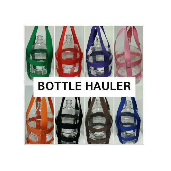 NEW Bottle Hauler - Glass Carboy Carrier - 1, 3 & 5 Gallon - Assorted Colors