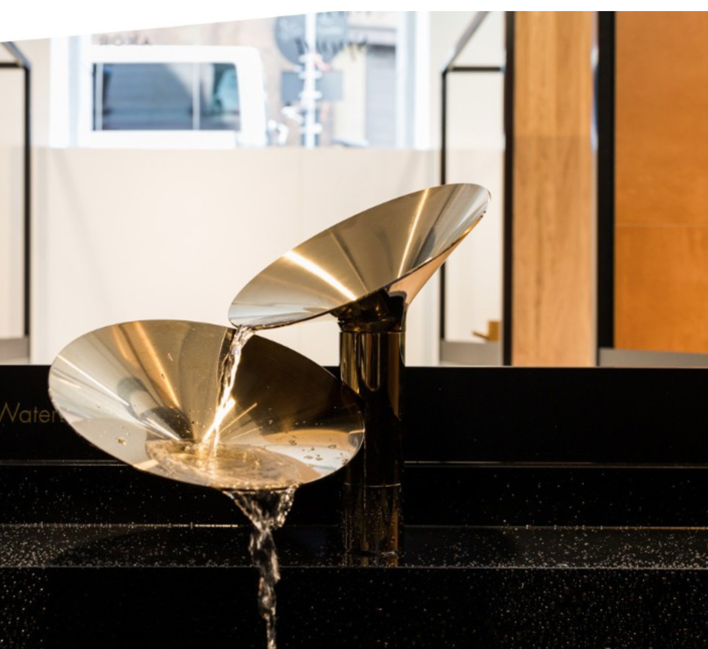Brass faucet - perfect for the cymbal musician