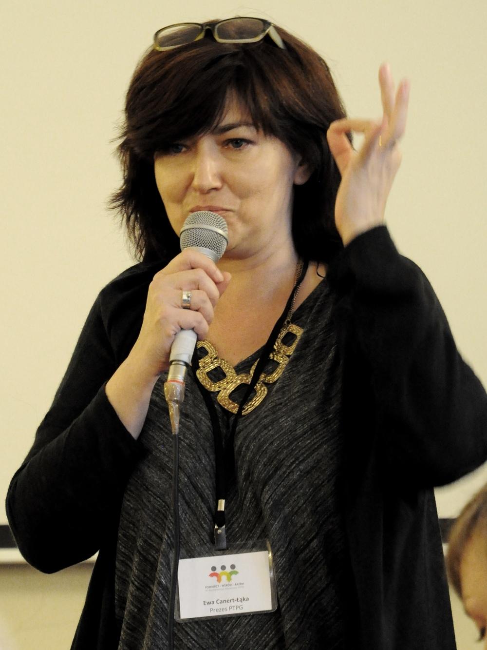 Ewa Canert-Łąka. Image courtesy of PTPG.