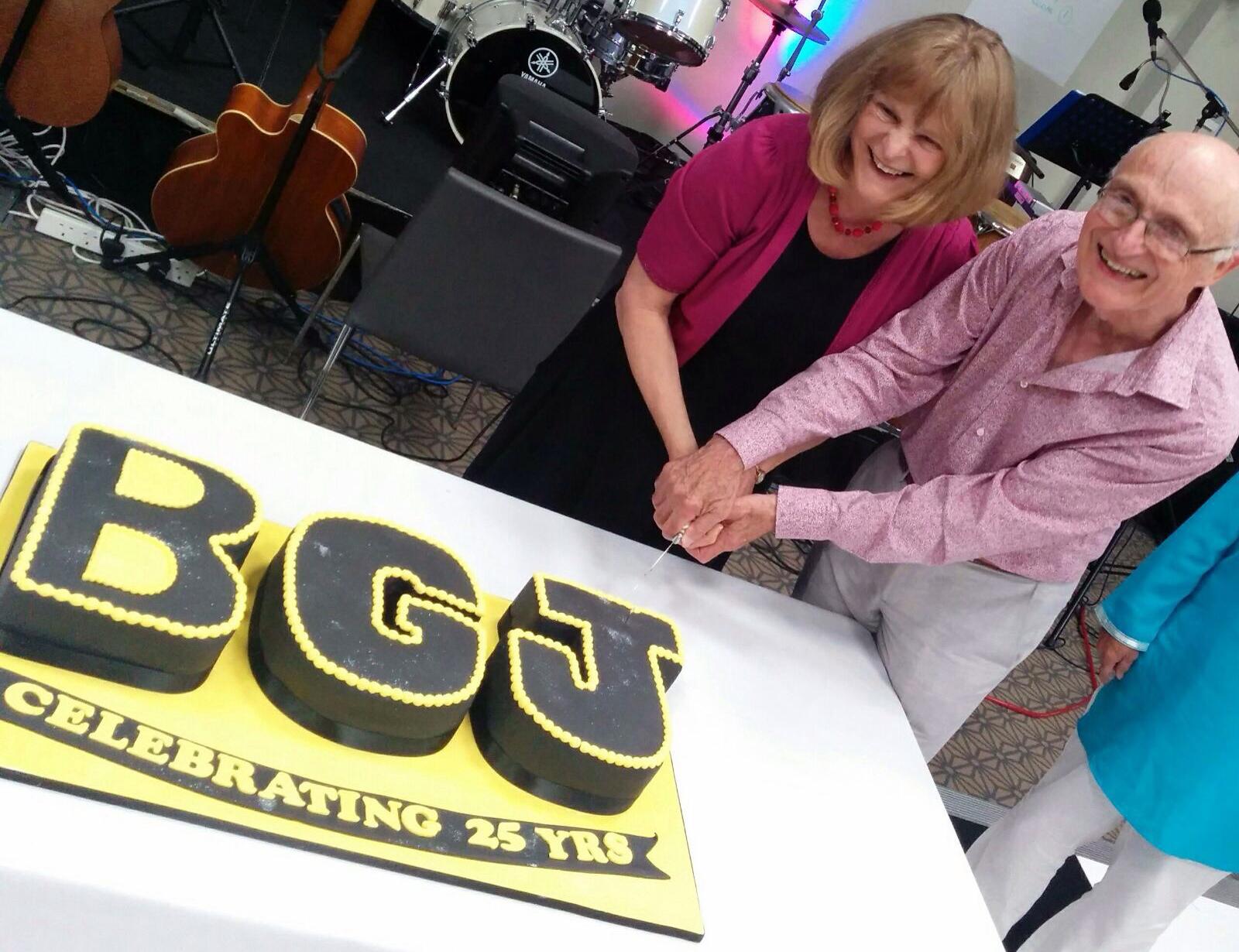 Editor Christine Stevens with founding Editor Malcolm Parlett