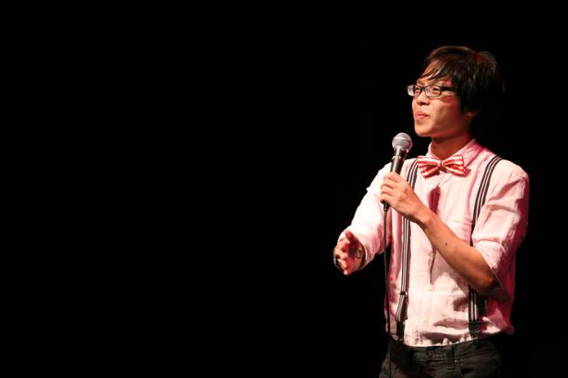 Sam See (Above) performing at the DBS Arts Centre.