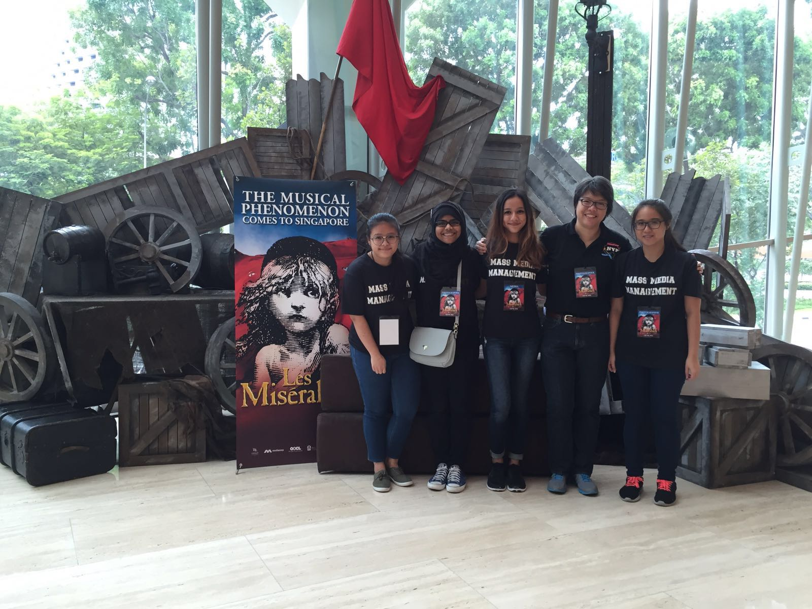 The NYP team at the exclusive peek of Les Misérables