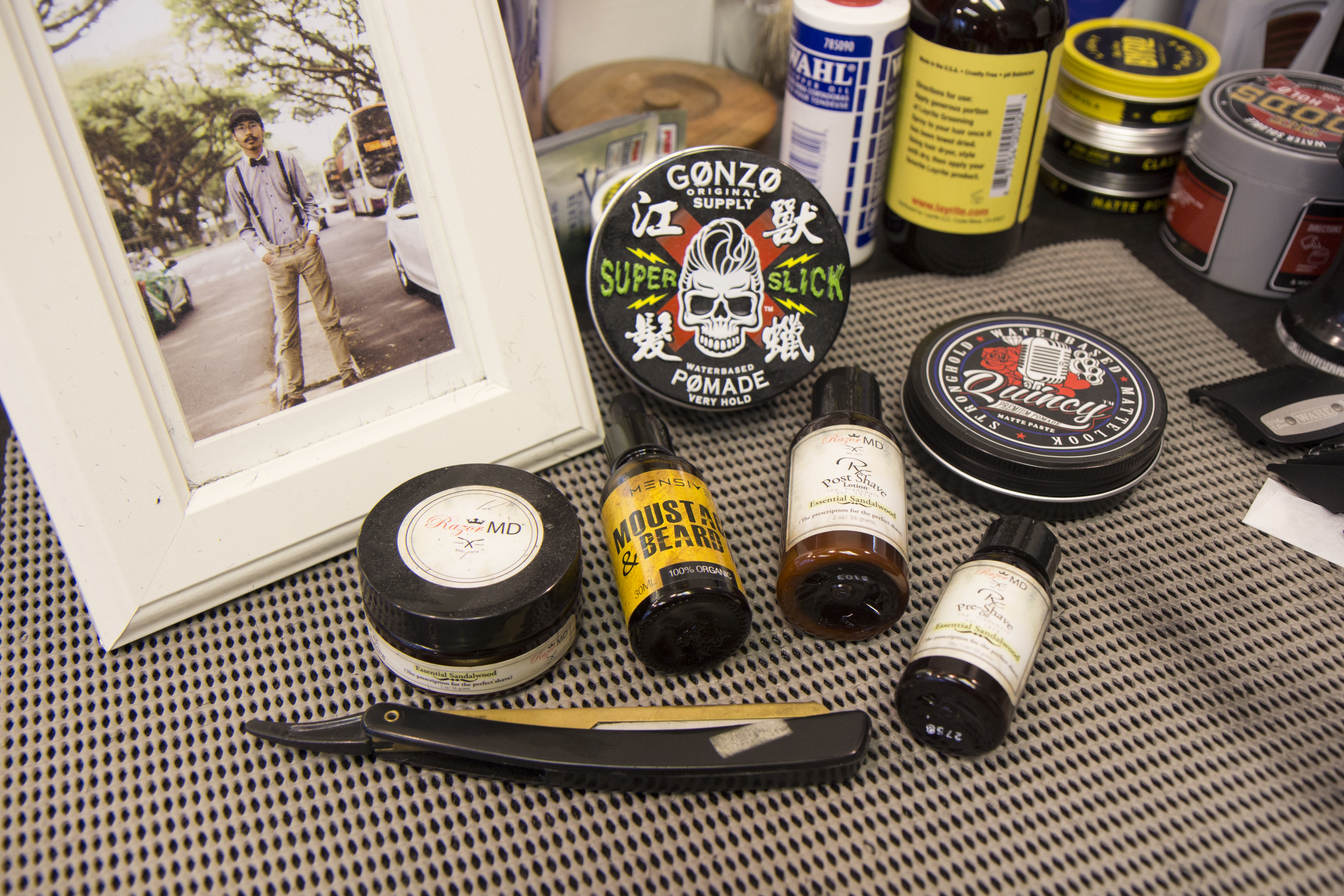 Jacky's daily grooming essentials