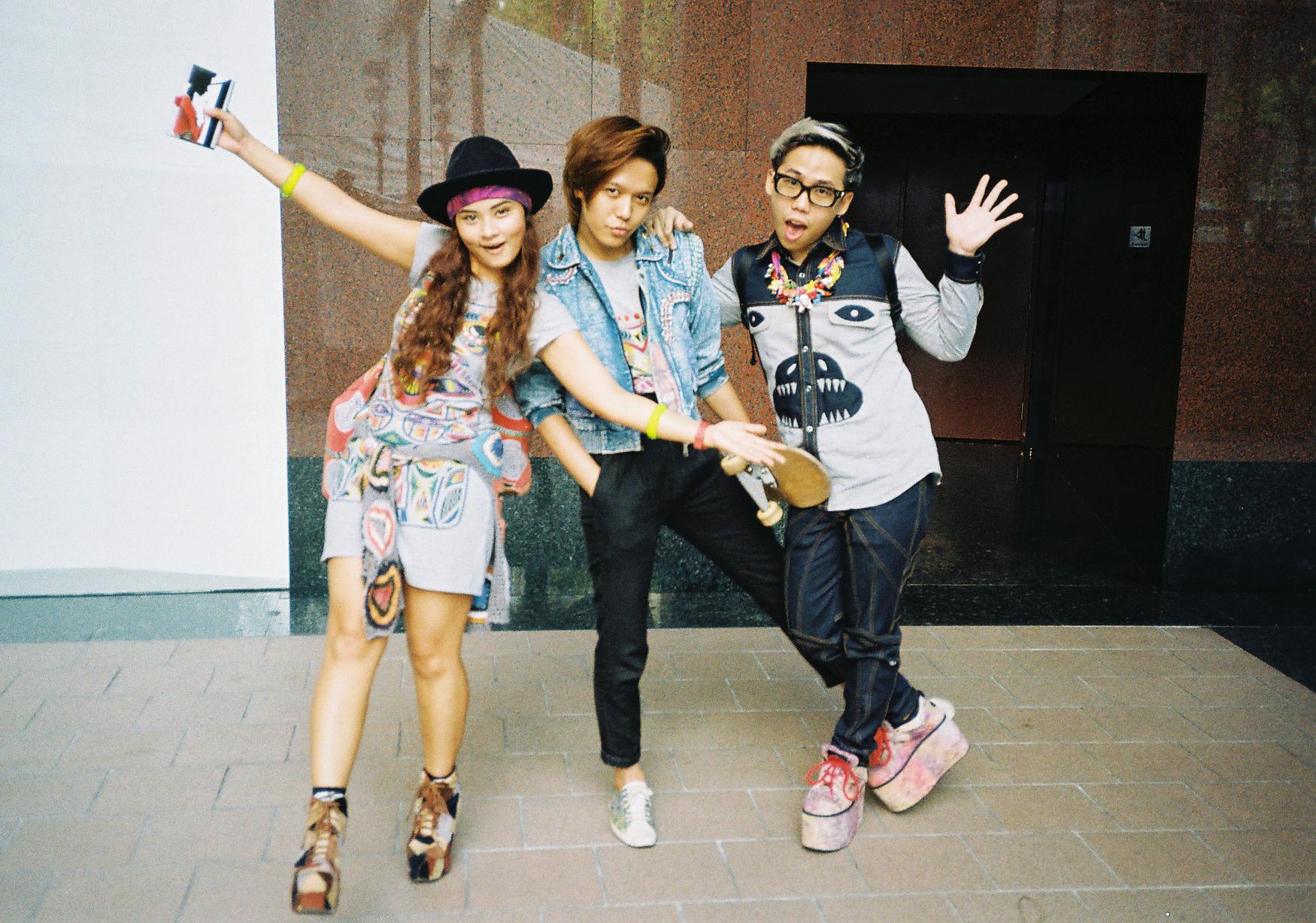 From Left to Right: Daniela Monasterios-Tan, Shaf Amis'aabudin and Nathanael Ng of MASH-UP