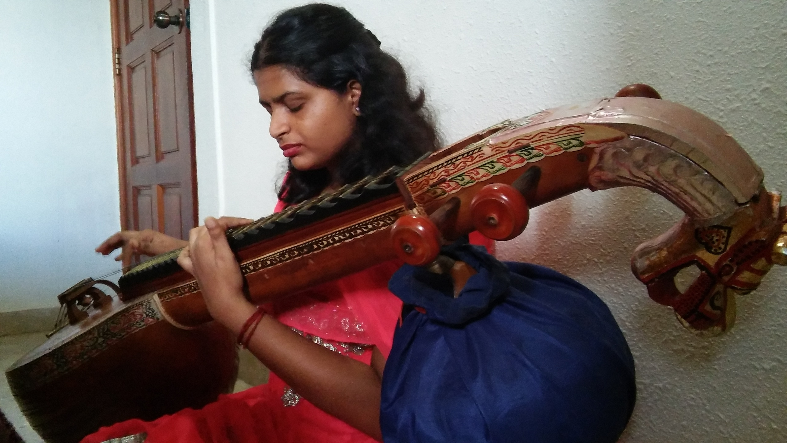 Seetha in focus as she plays her Veena